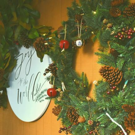 three-wreaths-on-front-door